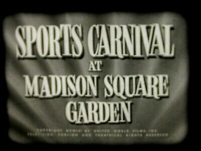 16mm Sports Parade SPORTS CARNIVAL AT MADISON SQUARE GARDEN 1956 Sound  RARE