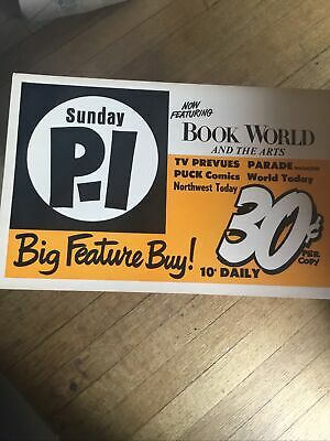 Seattle PI Sunday Vintage Paper Box Insert Advertisement 1960's