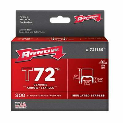 """Arrow Fasteners 721189 T72 Insulated Staples (11/32"""" 9mm X"""
