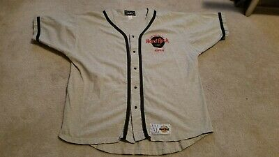 Hard Rock Cafe ASPEN Save the Planet Baseball Jersey Shirt Men's XL Pristine
