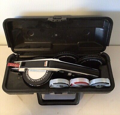 DYMO 1570 Chrome Metal Label Maker with case + 3 wheels