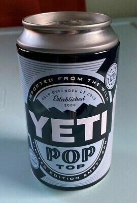 Yeti Limited Edition Empty Pop Top 12oz Collectable Stash / Fake Can Storage EUC