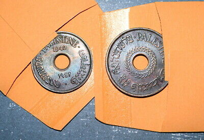 1942 PALESTINE 10 Mils & 20 Mils in UNCIRCULATED CONDITION