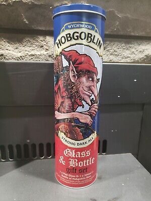 Wychwood Hobgoblin Brewery Glass And Bottle Set collectors TIN ONLY!