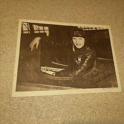 Vintage 1930s Speed Robertson  Flying Pilot Skelly Oil Promotional Photo Premium