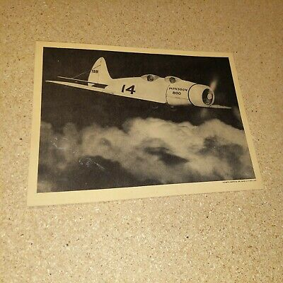 Vintage 1930s Monsoon 800 Airplane Skelly Oil Promotional Photo Premium