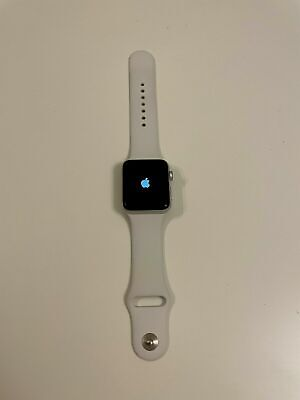 Apple Watch Series 3 GPS 42mm Silver Aluminum Case White Sport Band - MTF22LL/A