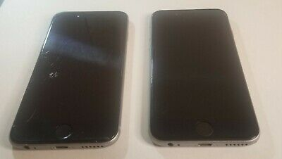 Lot of 2 Apple iPhone 6 - 16GB - Space Gray (AT&T) A1549 (GSM) No Power Plz Read