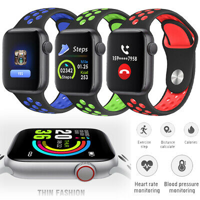 Bluetooth SmartWatch Sports Running Fitness Tracker Rubber Strap For Android iOS