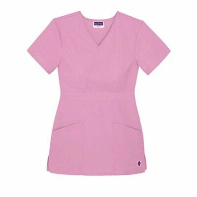 Sivvan Womens Scrubs Mock Wrap Top Available in 15 Colors