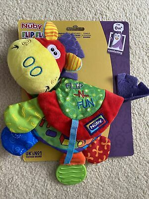 Nuby Baby Boy Girl Flip Flop Teether Toy Soother Colourful Activity Book 0+
