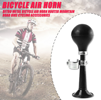 Bicycle Cycling Retro Metal Air Horn Hooter Bell Rubber Suction Bulb PAL F2P8