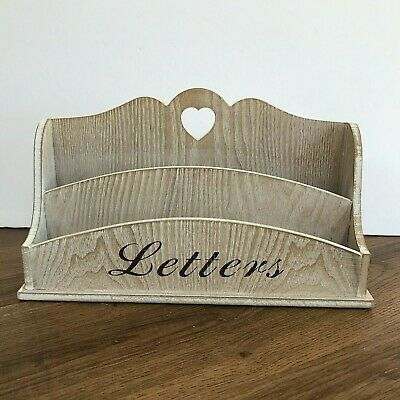 Letter Tray Country House Style Wooden Heart Vintage Letter Rack Shabby Style