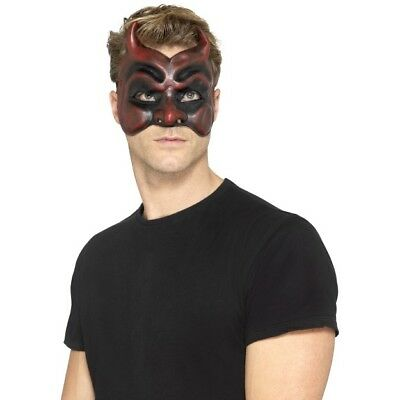 Masquerade Red Devil Latex Mask Adults Halloween Costume