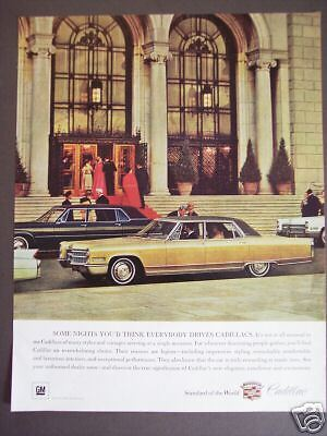 GM Gold CADILLAC automobile vintage 1966 Ad