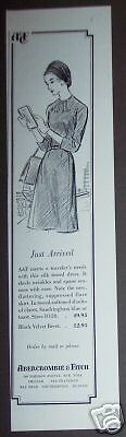 1961 original AD Abercrombie & Fitch Madison Ave