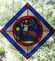 Stained Glass Panel Medieval Zodiac Sign: Sagittarius