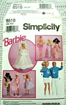 """Simplicity 8518 OOP 11½"""" Vintage Doll Clothes Pattern"""