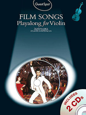 Guest Spot FILM SONGS for VIOLIN Sheet Music Book & CDs