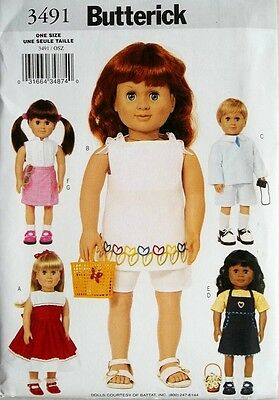 BUTTERICK 4252 OOP 26inch Adorable Dolls and Clothes Reduced