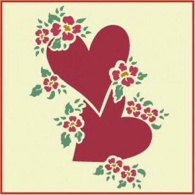 HEARTS AND FLOWERS STENCIL  - The Artful Stencil
