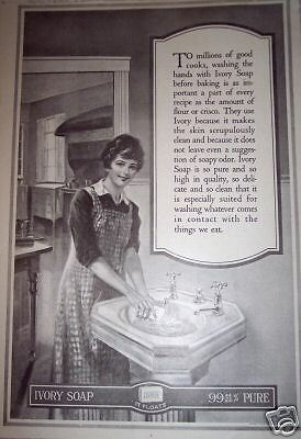 1917 Vintage Ad GOOD COOKS Pure  IVORY SOAP Retro Art