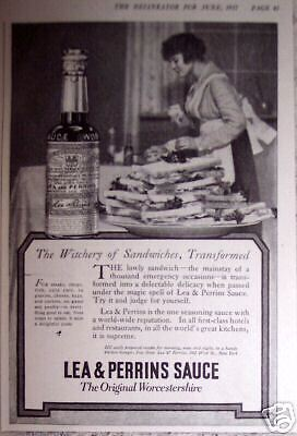 1917 Vintage ad LEA & PERRINS Wichery of Sandwiches