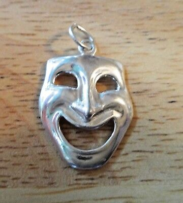 Fine Charms Sterling Silver 24x16mm Comedy Acting Theater High School College