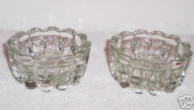 Crystal Candle Holders - Princess House - Lot of 2