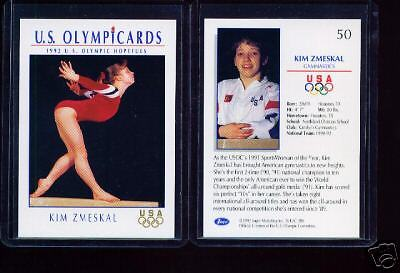1992 Impel Olympic Kim Zmeskal Rookie Gymnastics Card #50 ~ Multiples Available