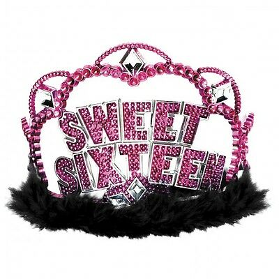 SWEET 16 (16th Birthday) PARTY TIARA (Sixteen)Hat Crown(S16 HT)