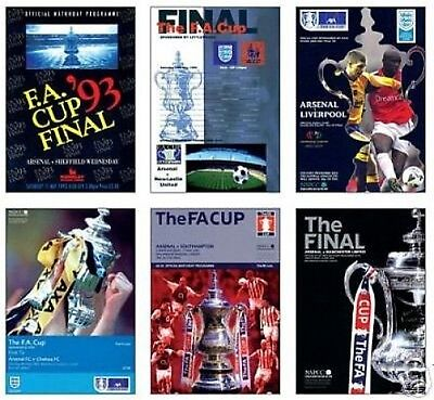Arsenal The FA Cup Finals Postcard Programme Cover Set