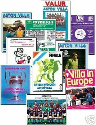 Aston Villa 1982 European Cup Winners Trading Card Set
