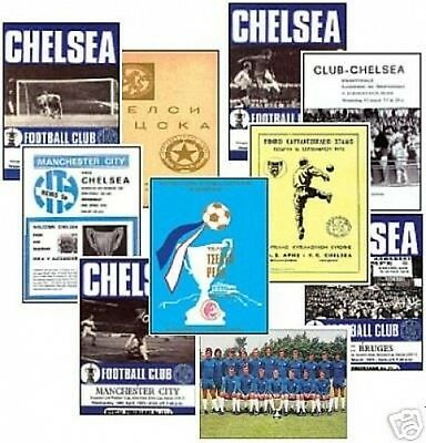 Chelsea 1971 European Cup Winners Cup Trading Card Set