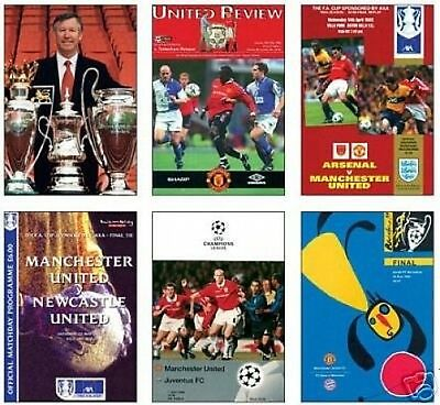 Manchester United 1999 Treble Programme Postcard Set