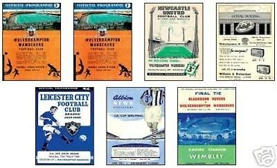Wolves 1960 FA Cup Winners Programme Trading Card Set