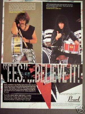 1985 Frankie Banali Carmine Appice pic PEARL Drums ad