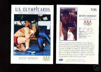 1992 Olympic Hopefuls Kenny Monday Wrestling Card #106 ~ Multiples Available