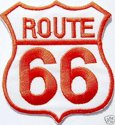 AUFNÄHER patch Motorrad Route 66 USA rot weiss