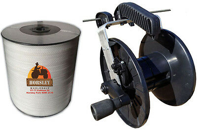 Electric Fence. 400M POLY TAPE + Large WIND UP REEL