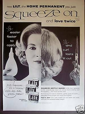 1956 LILT Squeeze on Home Permanent retro Beauty ad
