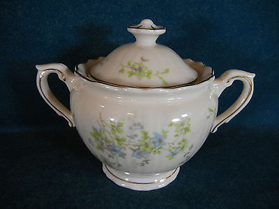 "Syracuse China Mayview 4 1/2"" Covered Sugar Bowl with Lid"