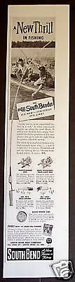 1948 South Bend fishing Rod Reels Lures Vintage ad