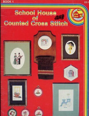 School House of Counted Cross Stitch #1 Pattern Leaflet