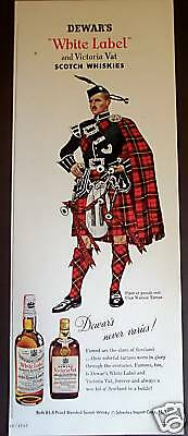1955 vintage Ad Piper at Parade Rest DEWAR'S White Label Scotch