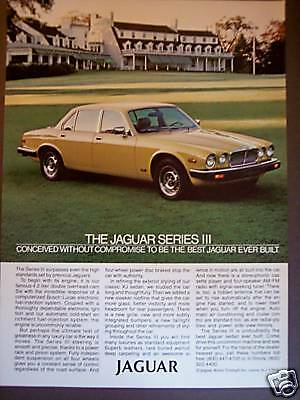1980 Yellow JAGUAR Series III Jag car photo print ad