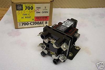 Allen Bradley 700-C200A1 Ac Control Relay 2No 2Nc 120V Coil Nos Condition In Box