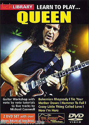 LICK LIBRARY Learn to Play QUEEN Lessons BOHEMIAN RHAPSODY ROCK GUITAR DVD VOL.1