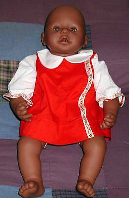 BATTERY OPERATED GERMANY ZAPF CREATIONS BLACK DOLL