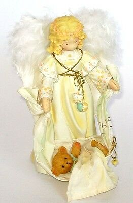 Cherished Teddies Blessing From Above Angel With Bear in Blanket 0000980